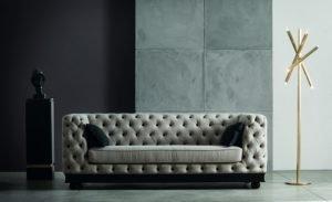 capitonne sofa italian