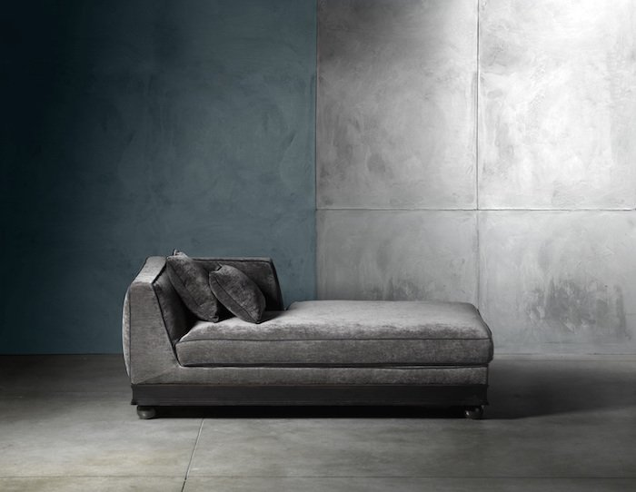 luxuru italian sofa grey chenille piping