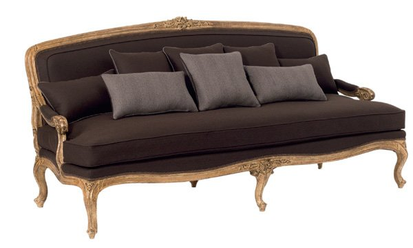 golden vintage sofa
