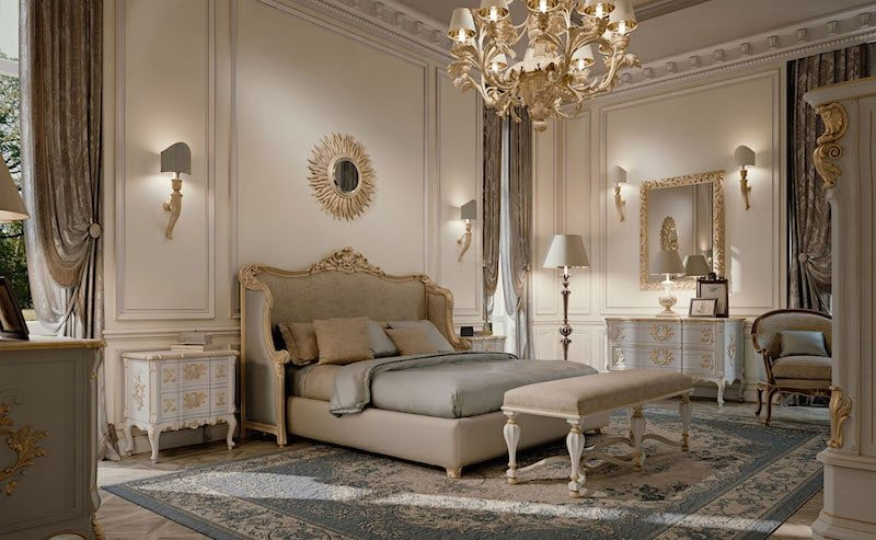 beautiful luxury bedroom golden sample