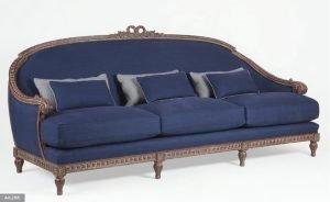 blue classical sofa
