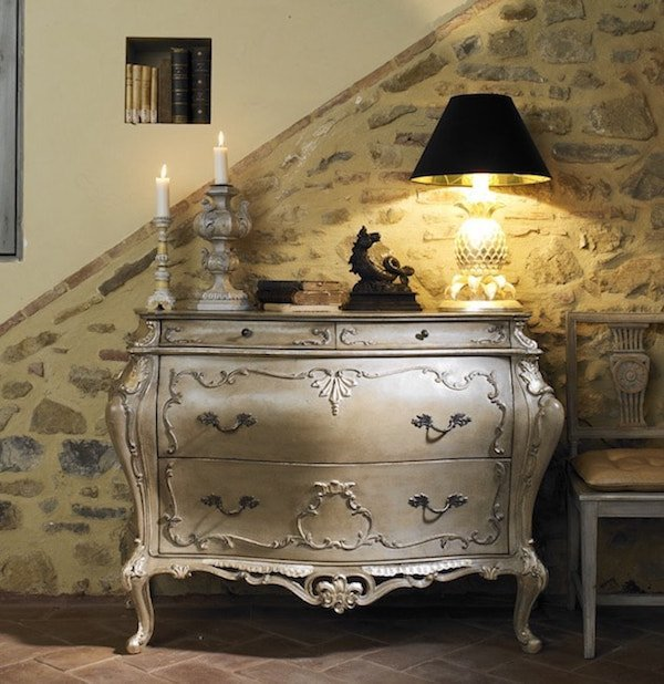 arredi classici lusso per la casa: consolle oro