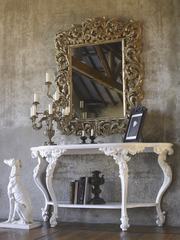 classic home furnishings: luxury console tables