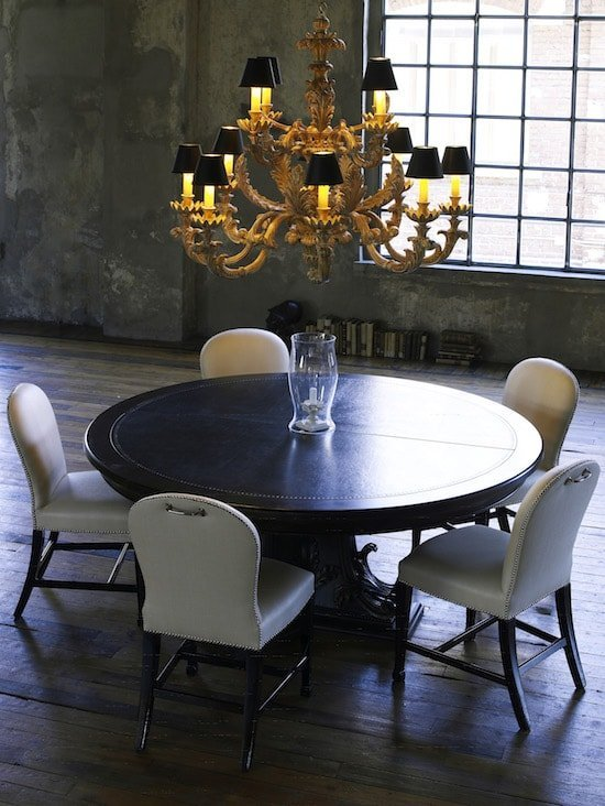 classic home furnishings: round table