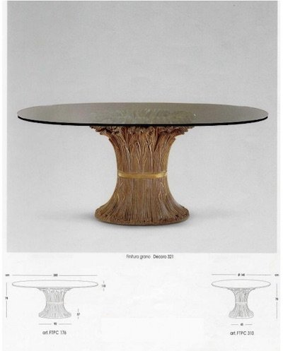 tavolo pranzo design: covone grano