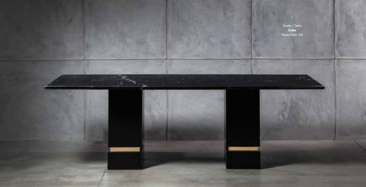 designer dining table: cube