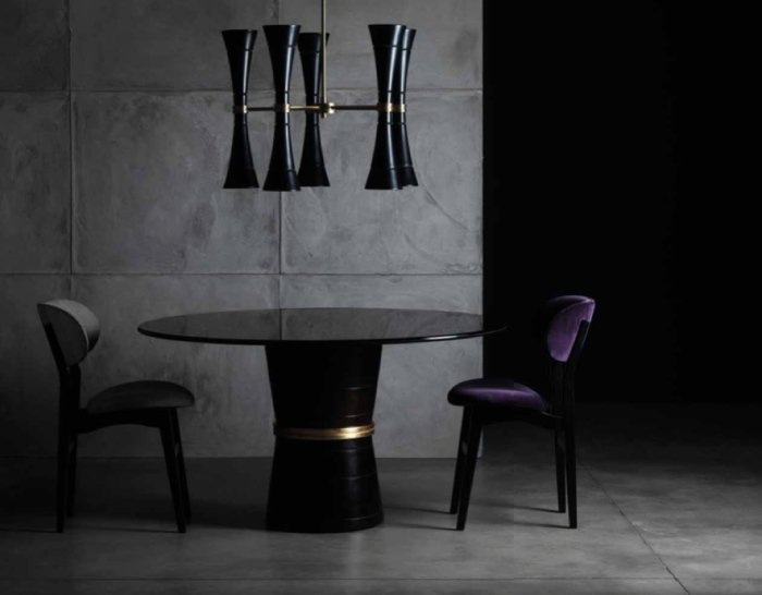 luxury dining table cone and chairs