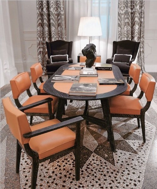 modern exclusive dining table: wooden