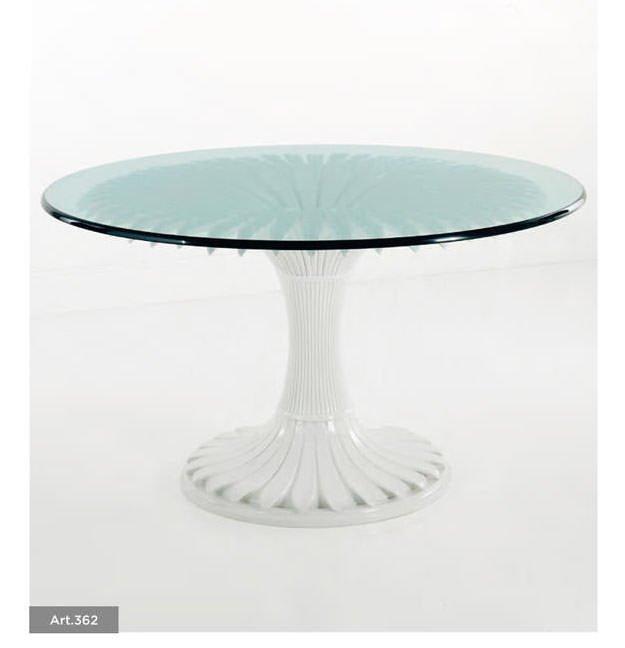 tavolo da pranzo design cristallo