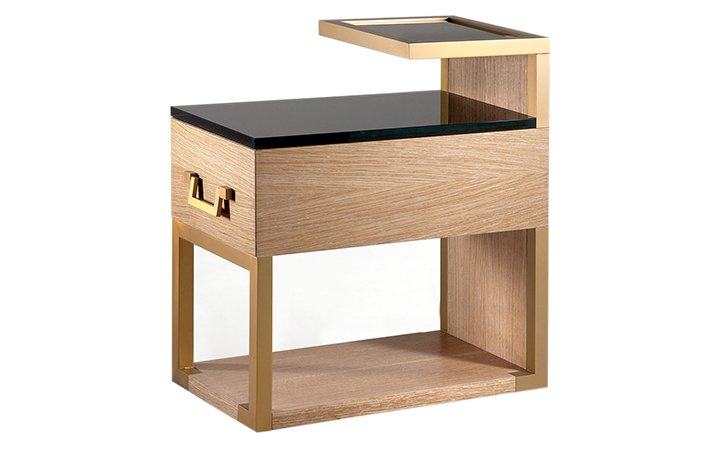 Brown coffee table with drawer