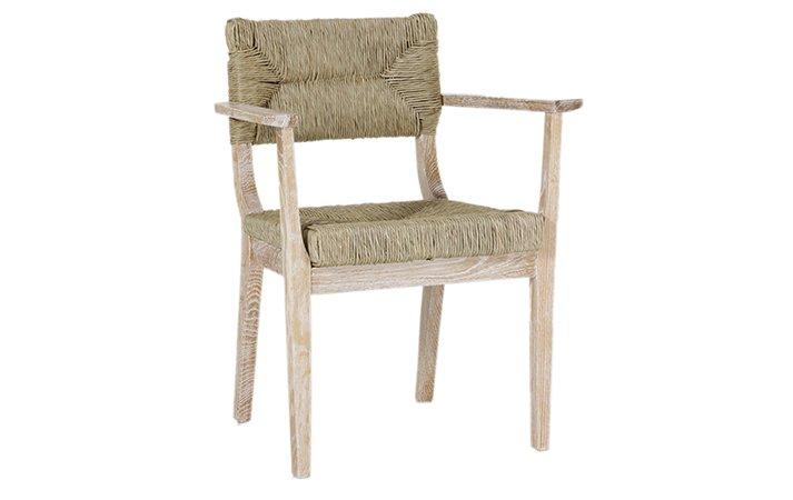 designer straw chair