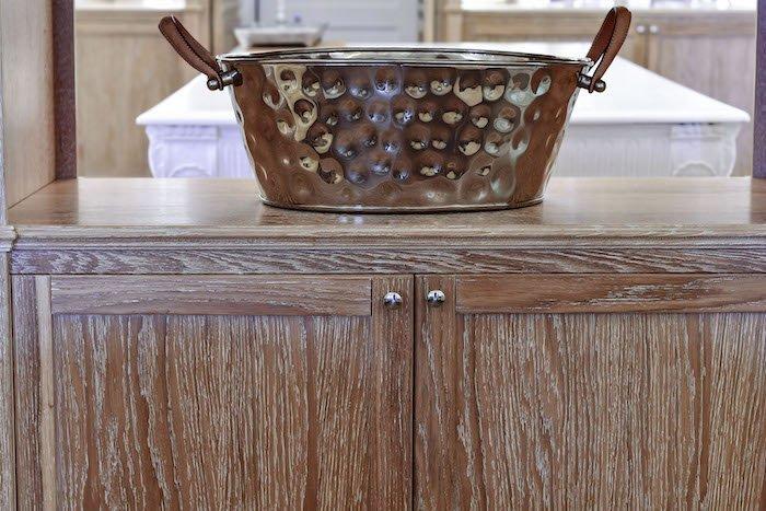 secretaire shabby legno