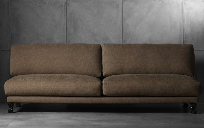 divano lineare marrone philip