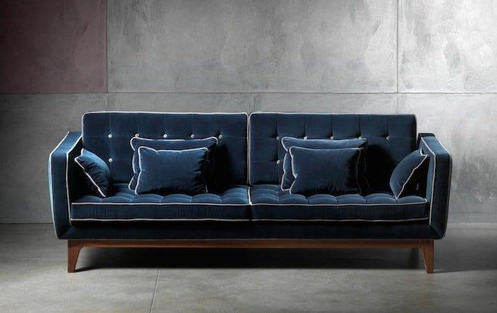 divano moderno 3 posti gambe mogano sipo: ivan